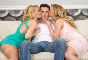 Aaliyah Love, Cherie DeVille & Ryan Driller in 2 Chicks Same Time - Sex Position 1