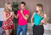 Harley Jade & Mia Malkova & Johnny Castle in 2 Chicks Same Time story pic