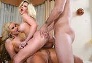 Phoenix Marie, Sienna Day & Mr. Pete in 2 Chicks Same Time - Sex Position 1