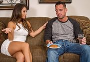 Eva Lovia	 & Johnny Castle in My Dad's Hot Girlfriend - Sex Position 1
