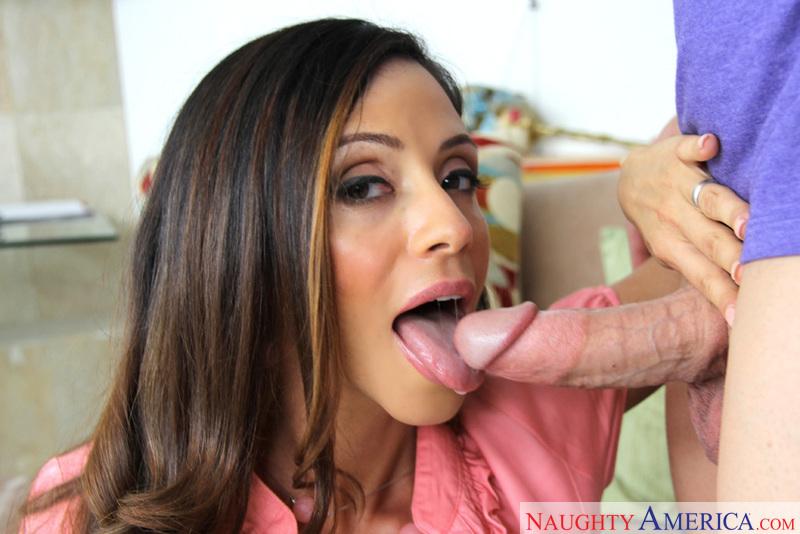 Porn star Ariella Ferrera having sex