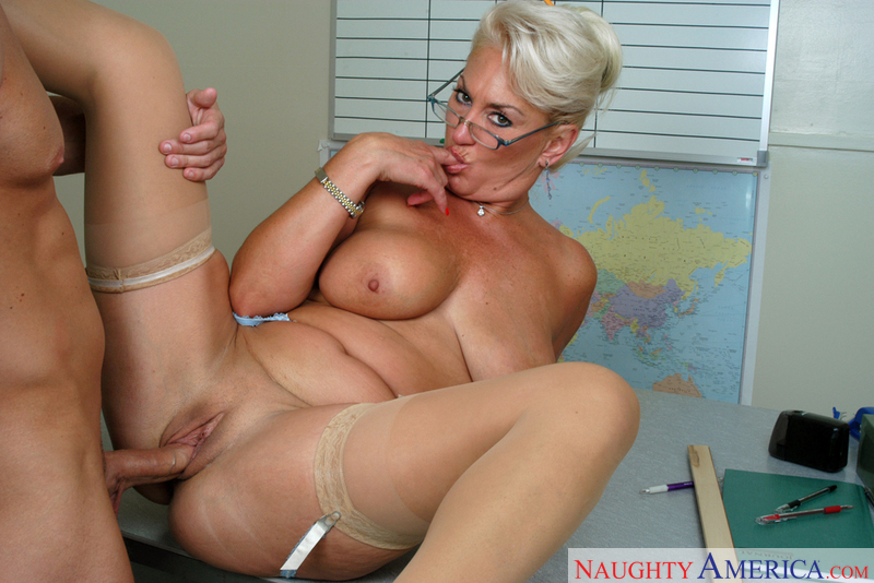 Hot blonde milf wife