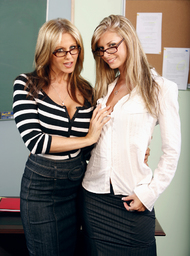 Brooke Banner, Julia Ann & Justice Young in My First Sex Teacher - Centerfold