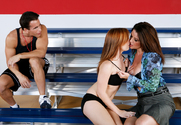 Raquel DeVine, Dani Jensen & Talon in My First Sex Teacher - Sex Position 1