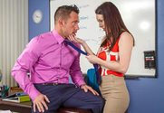 Rayveness & Johnny Castle in My First Sex Teacher - Sex Position 1
