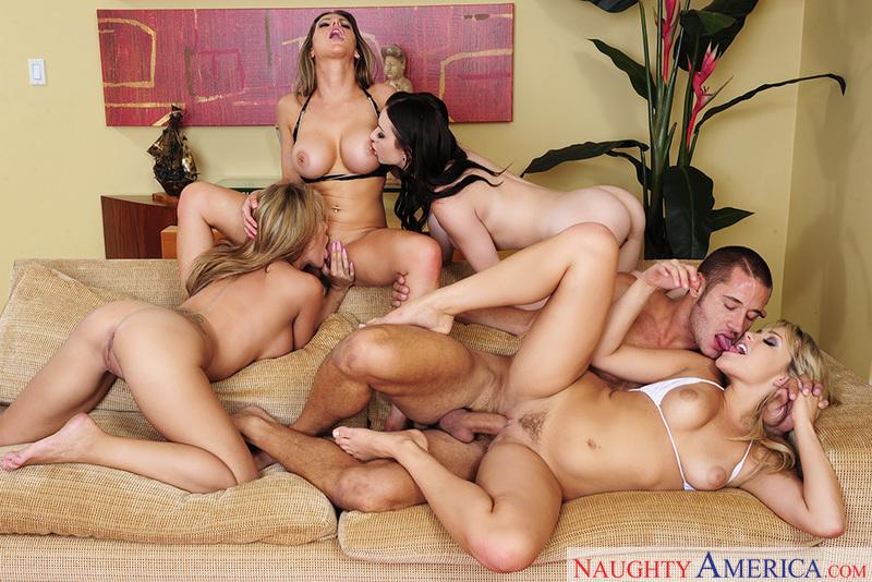 Porn star Capri Cavanni & Lexi Belle & Mia Malkova & Rachel Roxxx having sex