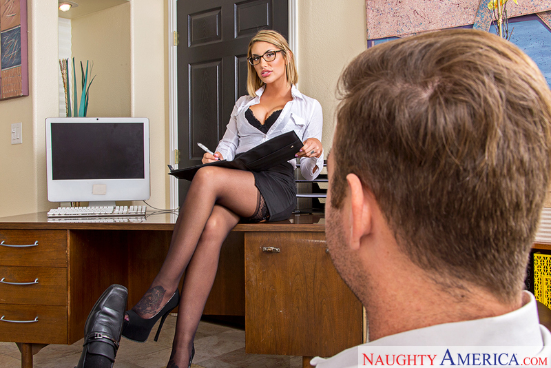 August ames & chad white in naughty america