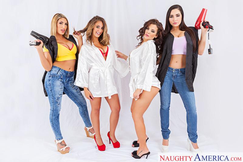 August Ames, Karlee Grey, Keisha Grey, Layla London, Preston Parker - Naughty America
