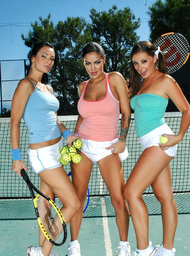 Penny Flame, Victoria Sin, Angelina Valentine & Tony DeSergio in Naughty Athletics - Centerfold