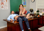 Kasey Warner & Johnny Castle in Naughty Bookworms story pic