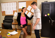 Whitney Westgate & Brick Danger in Naughty Bookworms - Sex Position 1