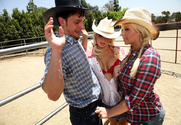 Emma Heart & Brooke Haven & Anthony Rosano in Naughty Country Girls story pic