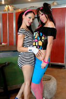 Roxy Deville starring in Friend's Girlfriendporn videos with Black Hair and Blow Job