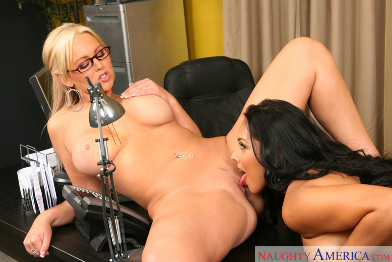 Porn star Abbey Brooks and Nina Mercedez having sex