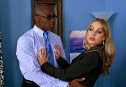 Aline & Sean Michaels in Naughty Office - Sex Position 1