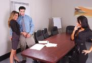 Kayla Paige, Asa Akira & Charles Dera in Naughty Office - Sex Position 1