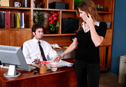 Felony & James Deen in Naughty Office story pic