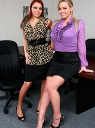 Abbey Brooks, Ky Noelle & Rocco Reed in Naughty Office - Centerfold
