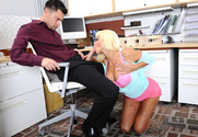 Nikita Von James & Seth Gamble in Naughty Office sex pic