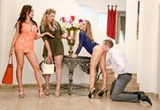 Nicole Aniston & Nikki Benz & Phoenix Marie & Mark Wood in Naughty Rich Girls story pic