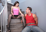 Tiff Star & Johnny Castle in Naughty Rich Girls story pic