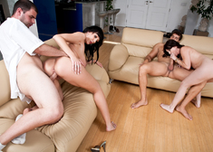 Rayveness, Alia Janine, Ramon Nomar & Ralph Long in Seduced by a Cougar - Centerfold