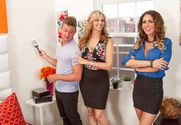Julia Ann, Jessica Jaymes & Van Wylde in Seduced by a Cougar - Sex Position 1
