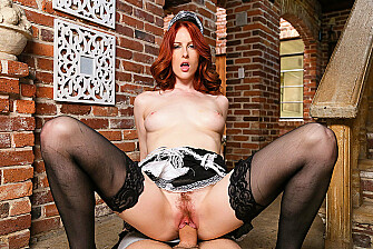 Your wife Alex Harper fulfills your naughty maid fantasy - Blowjob
