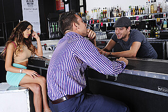 August Ames fucking in the bar with her big tits - Sex Position 1