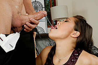 London Keyes fucking in the living room with her big tits - Blowjob