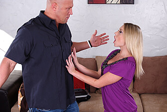 Stranger Shawna Lenee fucking in the couch with her tits - Sex Position 1