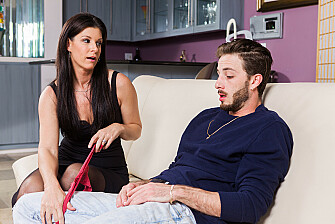 India Summer shows her son's friend how to fuck a MILF - Sex Position 1