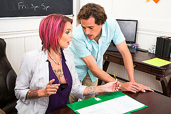Professor Anna Bell Peaks Gives a Good Lesson...and Head - Sex Position 1