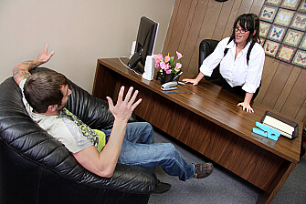 Professor Indianna Jaymes fucking in the desk with her tits - Feb 25, 2009 - picture 2
