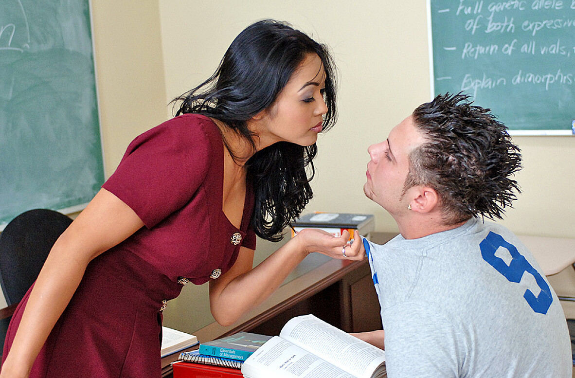 Watch Mika Tan and John Espizedo Asian video in My First Sex Teacher