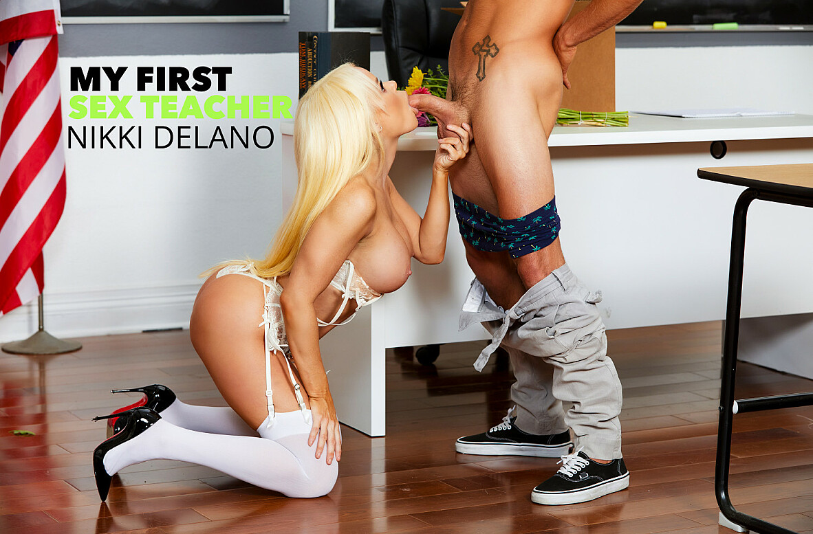 Watch Nikki Delano and Tyler Nixon 4K video in My First Sex Teacher