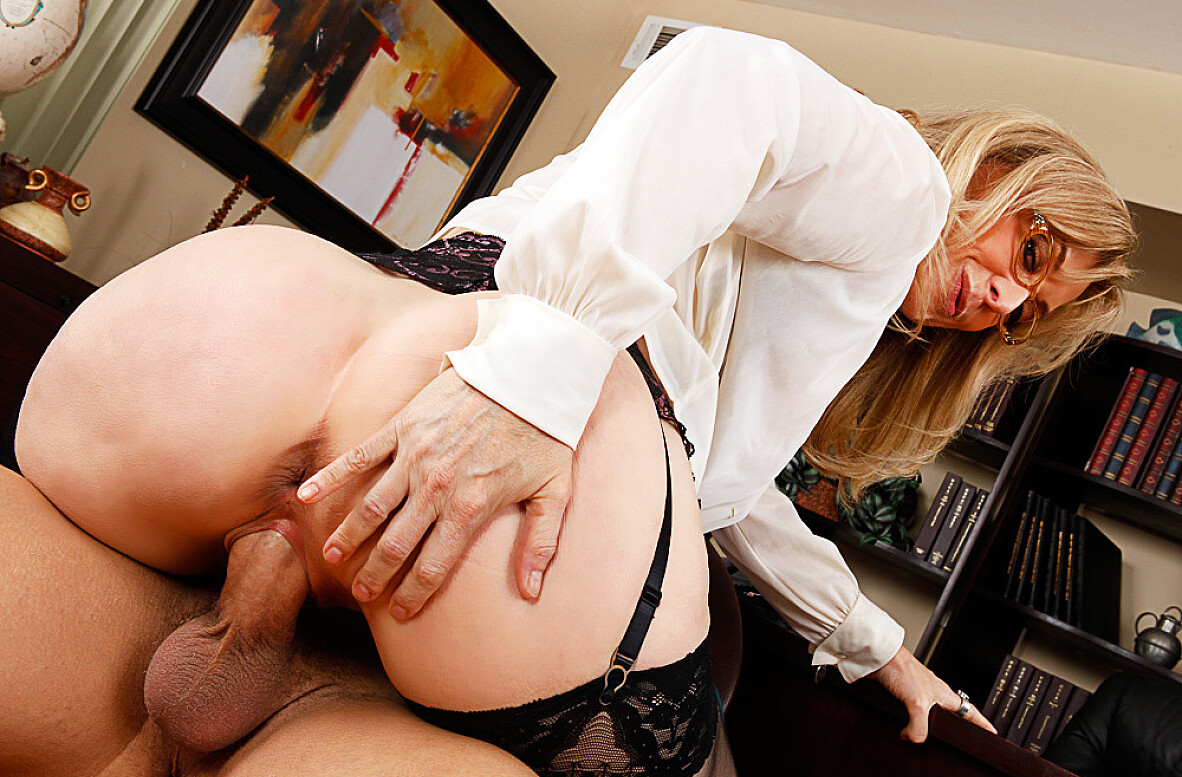 Watch Nina Hartley and Xander Corvus video in My First Sex Teacher