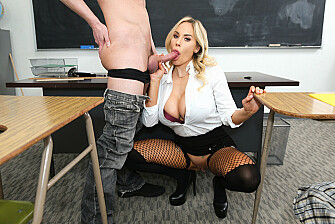 Ms. Olivia Austin Lets Her Student Give Her A Ride - Sex Position 2