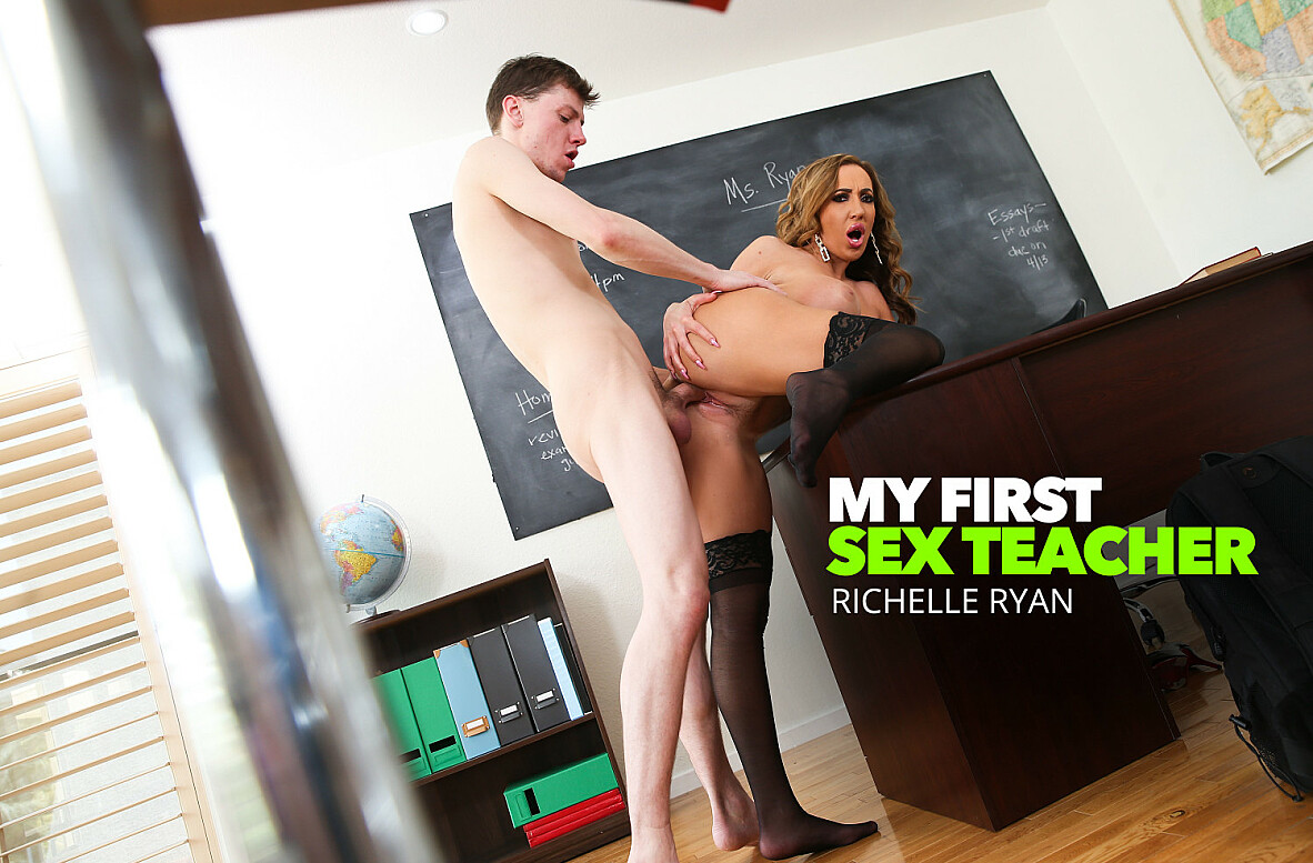 Watch Richelle Ryan and Rion King 4K video in My First Sex Teacher