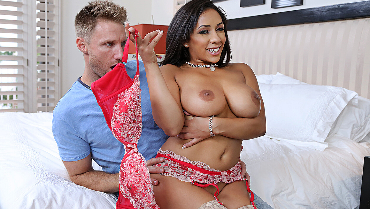 Priya Price fucking in the bedroom with her lingerie