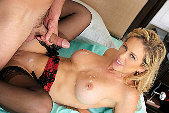 Cherie DeVille fucking in the bedroom with her lingerie - Sex Position 3