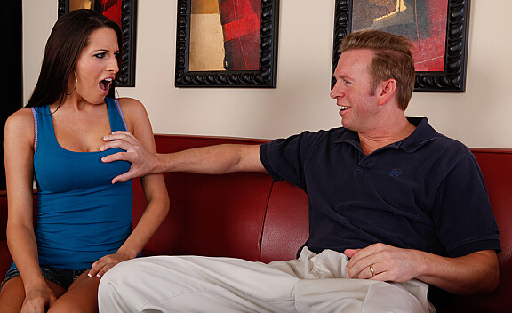 Kortney Kane fucking in the living room with her tits - Sex Position #1