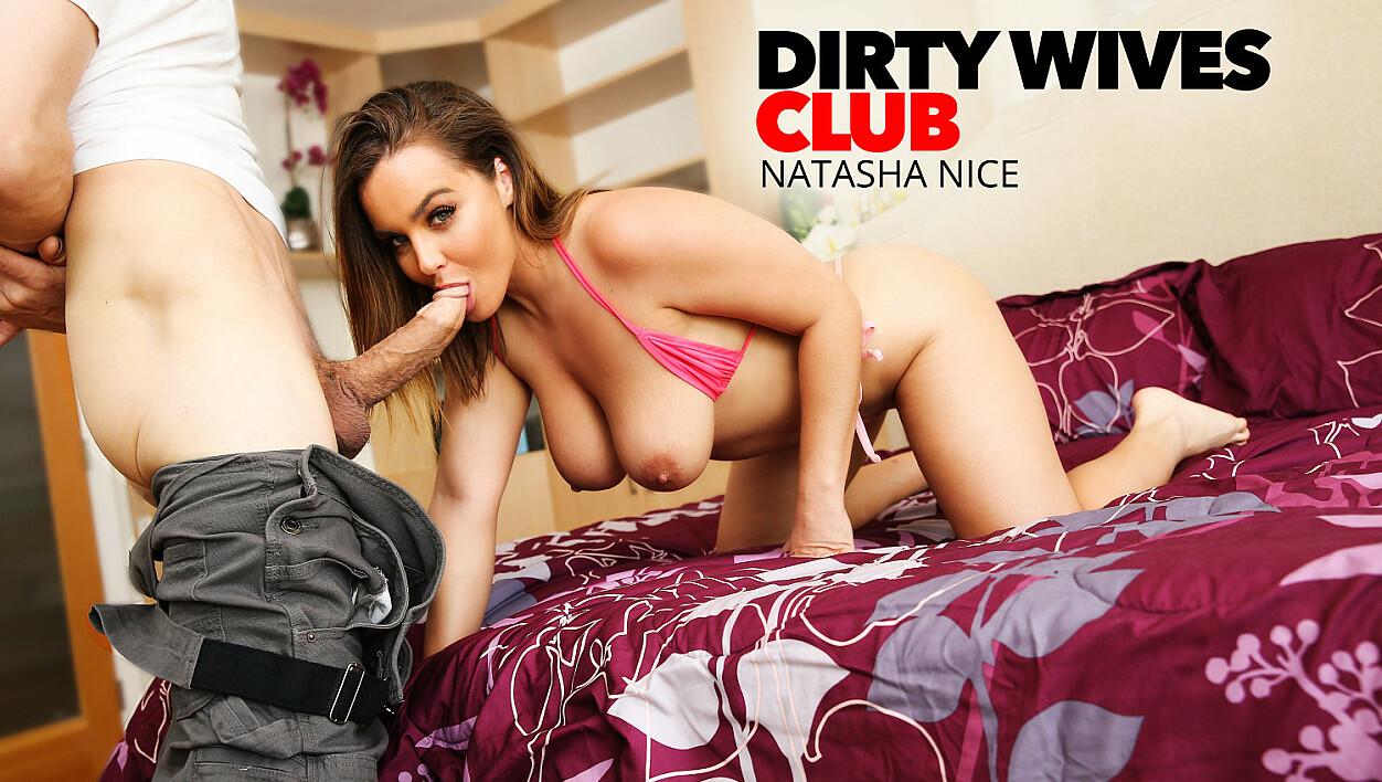Natasha Nice fucks lawn guy while hubby's at work