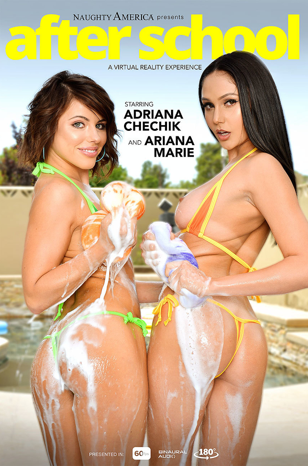 Watch Adriana Chechik, Ariana Marie and Johnny Castle VR video in Naughty America