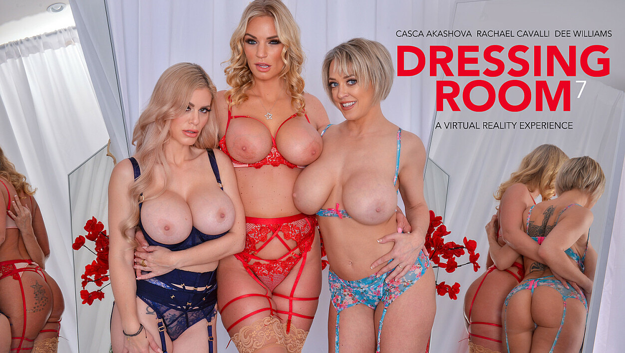 Casca Akashova Dee Williams and Rachael Cavalli undress only for your eyes