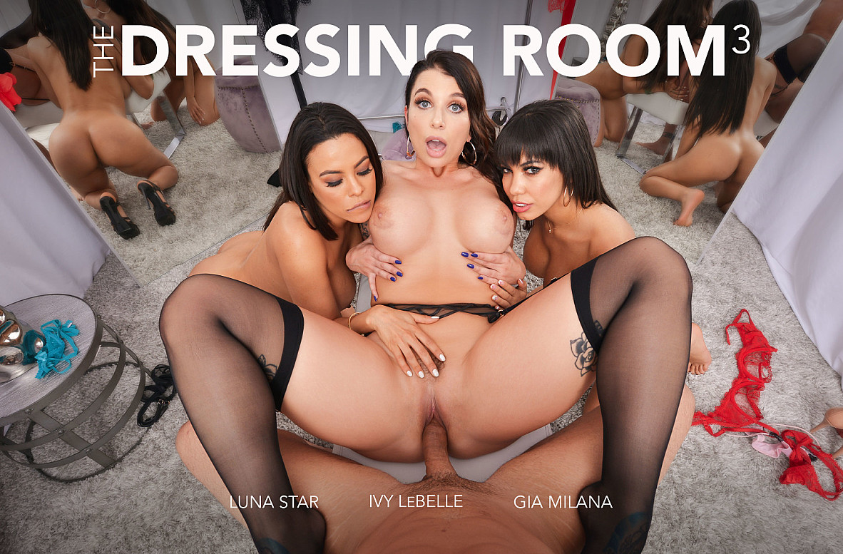 Watch Gia Milana, Luna Star and Ryan Driller VR video in Naughty America