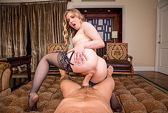 Natural blonde Karla Kush is Back and Bangin' You in VR porn - Blowjob