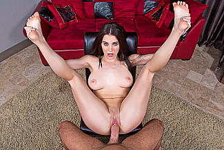 Lana Rhoades fucking in the chair with her tattoos vr porn - Sex Position 3