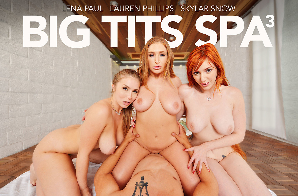 Watch Lauren Phillips, Lena Paul, Skylar Snow and Bambino VR video in Naughty America
