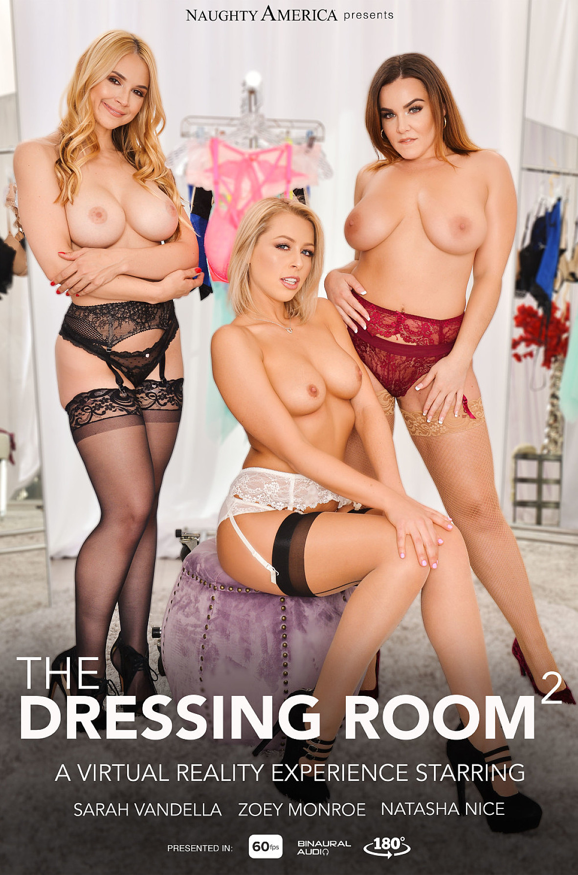 Watch Natasha Nice, Sarah Vandella, Zoey Monroe and Johnny Castle VR video in Naughty America